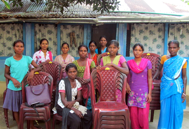 : Self-Help Group at Sayedabad with chairs for rent. (Photo: HLDRC)