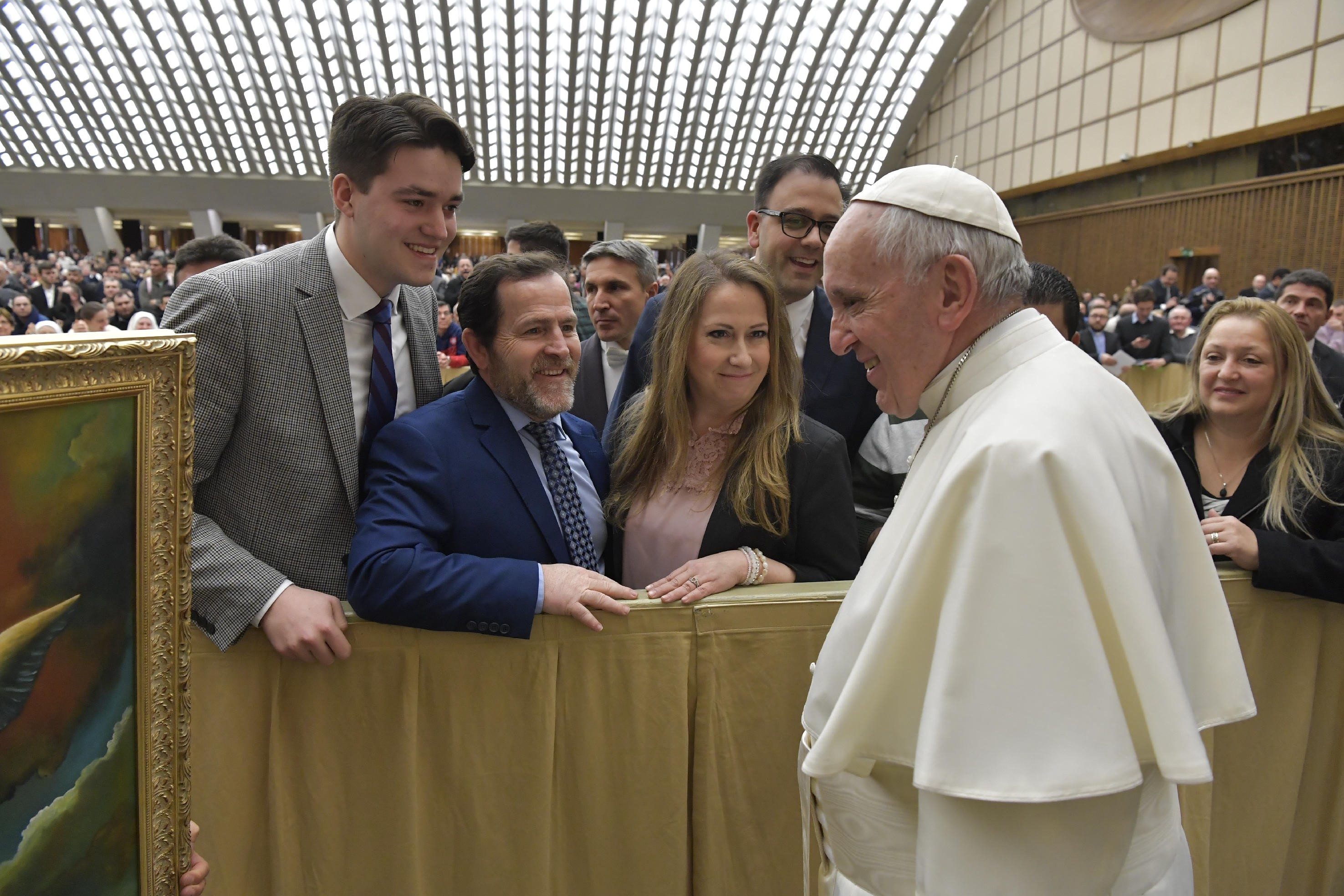 The CCO group meets with Pope Francis in Rome. Source: Osservatore Romano.