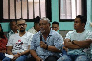 (From left to right) Jose Mario Lopez, Fr, Melo and Jose Galdamez of Radio Progreso ERIC (pre-COVID-19). Source: Ignatian Solidarity Network.