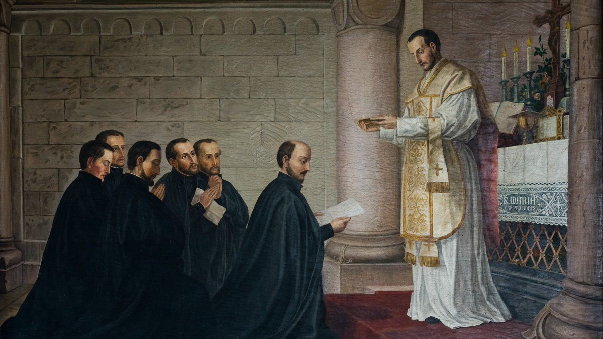 The first Jesuis take their vows in Montmarte, France. on August 15, 1534. Source: twitter.com