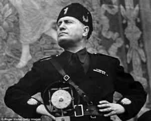 Mussolini. Source: dailymail.co.uk