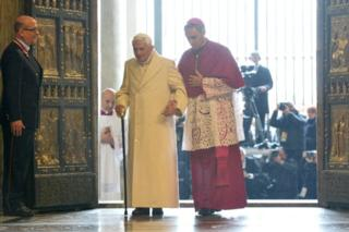 Pope Benedict at the Sacred Door. Source: news.yahoo.com